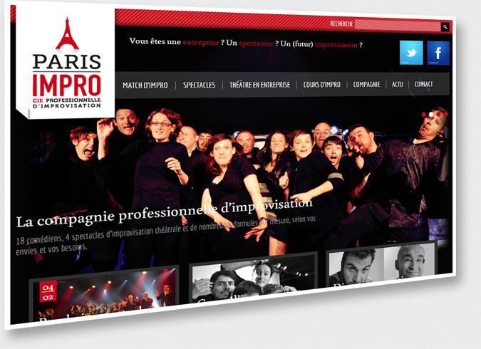 Vue du site paris-impro.com