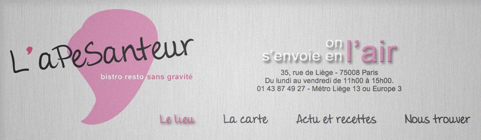 Visuel du site L'Apesenteur