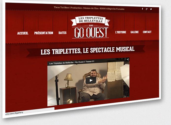 Aperçu du site www.lestriplettesdebelleville-lespectacle.com